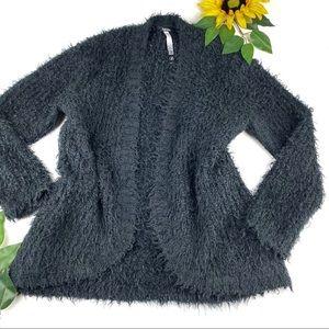 Kensie Fuzzy Eyelash open front cardigan sweater